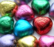 Chocolat Valentine de coeur d'amour dans la couleur douce Images libres de droits