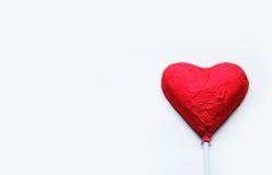 Chocolat Valentine de coeur d'amour dans la couleur douce Photographie stock libre de droits
