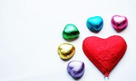 Chocolat Valentine de coeur d'amour dans la couleur douce Photo stock