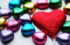Chocolat Valentine de coeur d'amour dans la couleur douce Images stock