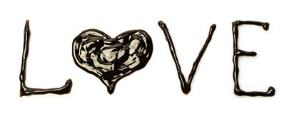 Chocolat Word Photo libre de droits