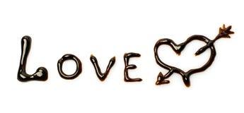 Chocolat Word Photographie stock libre de droits