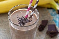 Chocolata banana smoothie Royalty Free Stock Images
