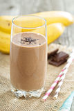 Chocolata banana smoothie Royalty Free Stock Image