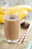 Chocolata banana smoothie Royalty Free Stock Image