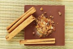Chocolata& cinnamon Royalty Free Stock Photos