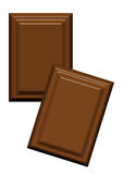 The Chocolate. Illustration of two milk chocolate slices on white background royalty free illustration
