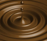 Chocolate. Brown drop, element of design, brown paint, coffee cup, hot chocolate Stock Photography