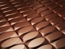 Chocolate. Bars in perspective 3d image stock illustration
