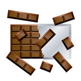 Chocolate. This graphic is chocolate bar Royalty Free Stock Photo