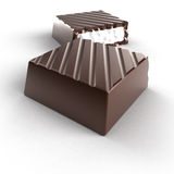 Chocolate. Filled with white cream Royalty Free Stock Photography
