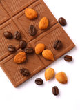 Chocolate. And ingredient on white background Stock Image