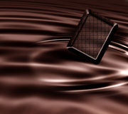 Chocolate. Pieces isolated on white Stock Photos