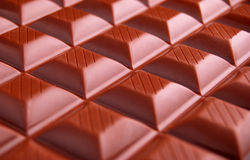Chocolate. Closeup of tasty chocolate bar stock photo