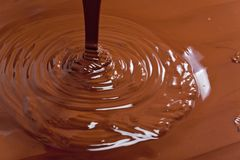 Chocolate. Inside, indoors, interiors, food, aliment, nutrition, nourishment, dark, confections, confectionery, sweet, unhealthy, calories, tempt, temptation stock image