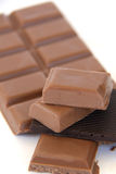 Chocolate. Candy bar isolated on white Stock Image