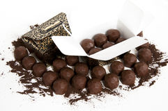 Chocolate. The chocolate isolated on a white background Stock Image