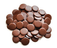 Chocolate. The chocolate isolated on a white background Royalty Free Stock Photo