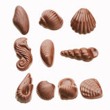 Chocolate. The chocolate isolated on a white background Royalty Free Stock Photos