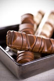 Chocolate. Sweet Chocolate isolated on a white Stock Image