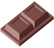 Chocolate 2 blocks. Chocolate - Vector illustration - Easy to edit Stock Images