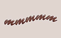 Chocolate. Abstract 3d brown chocolate text Royalty Free Stock Images