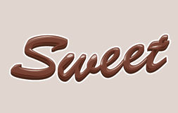 Chocolate. Abstract 3d brown chocolate text Royalty Free Stock Photos