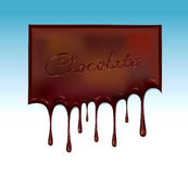 Chocolate. Drops to use heading background and advertising purpose Royalty Free Stock Image
