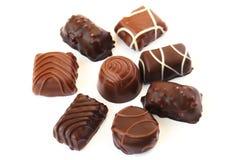 Chocolate. On white background, horizontal picture Stock Photos
