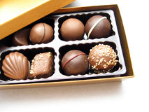 Chocolate. Life is like a box of chocolate Royalty Free Stock Images