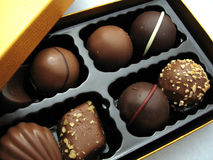 Chocolate. Life is like a box of chocolate Stock Image
