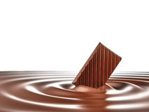 Chocolate. Melting in hot Royalty Free Stock Images