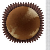 Chocolate. Illustration of an isolated cupcake top view Royalty Free Stock Photography