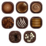 Chocolate. Illustration of chocolate on a white background Royalty Free Stock Images