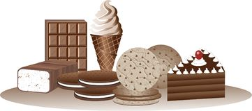Chocolate. An illustration depicting chocolate goodies Royalty Free Stock Photography