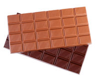 Chocolate. Tasty chocolate bar isolated on white background Royalty Free Stock Images