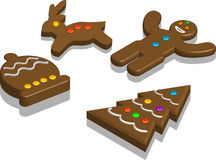 Chocolate. Illustration, vector for a variety shape of chocolate for Christmas Royalty Free Stock Image