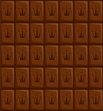 Chocolate. Seamless vector wallpaper - imitational chocolate Stock Image