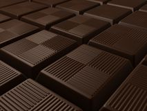 Chocolate. 3d rendered illustration from many pieces of chocolate Royalty Free Stock Photography