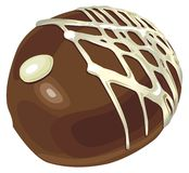 Chocolate. Illustration of a sweet chocolate candy bar available in vector format Stock Photography