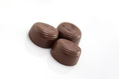 Chocolate. Candy on a white background royalty free stock photos
