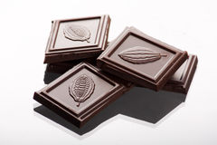 Chocolate. On the  white background Stock Image