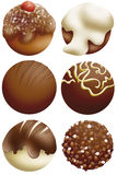 Chocolate. Delicius chocolates in assorted fantasy Royalty Free Stock Photography