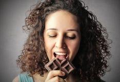Chocolate addiction Stock Photos