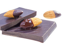 Chocolate almond. Royalty Free Stock Photos
