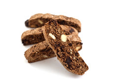 Chocolate Almond Biscotti Stock Photo