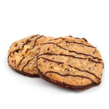 Chocolate almond cookies homemade isolate on white background Stock Images