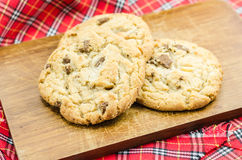 Chocolate almond cookies Royalty Free Stock Photo