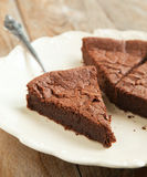 Chocolate almond cornmeal cake Stock Image