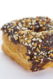 Chocolate and almond croissant Stock Image